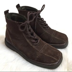 Frye Avenger Suede Leather Lace Up Booties